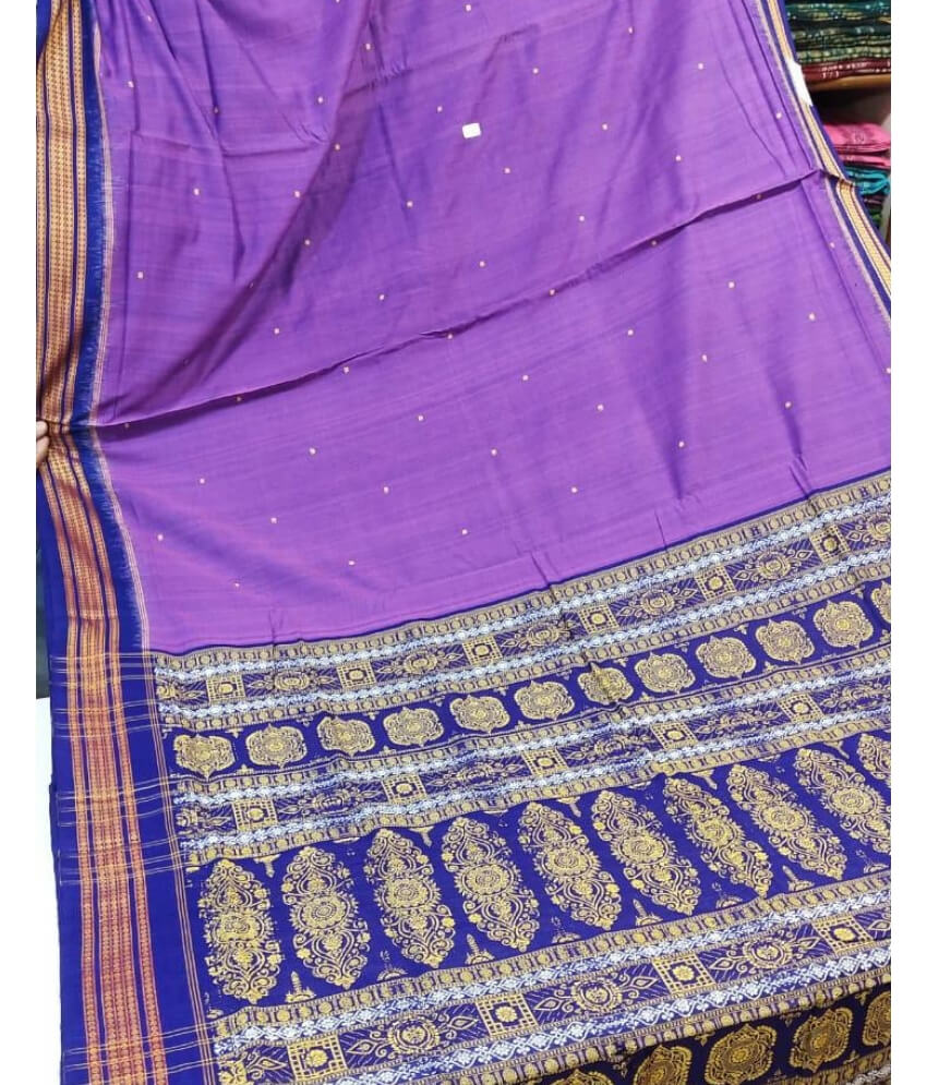 Violet Sambalpuri Cotton Saree