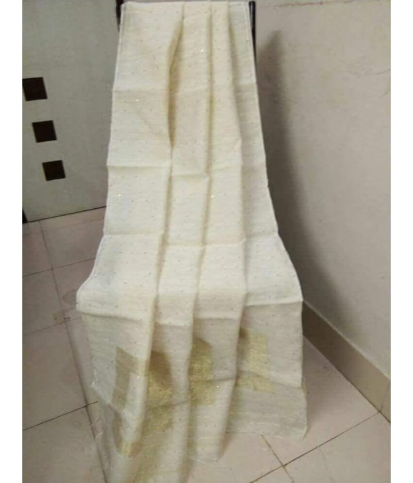 White Handloom Sequence Saree