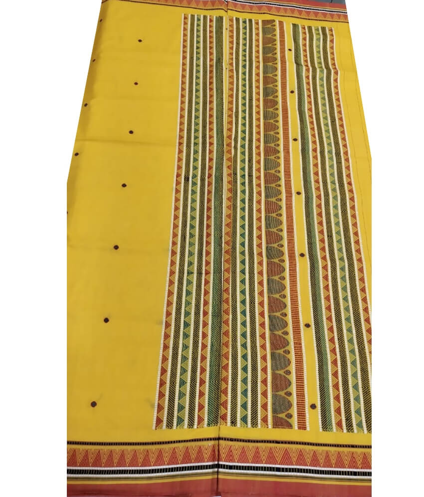 Yellow Dongria Saree