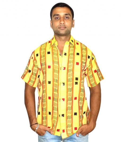 Yellow Ikat Shirt