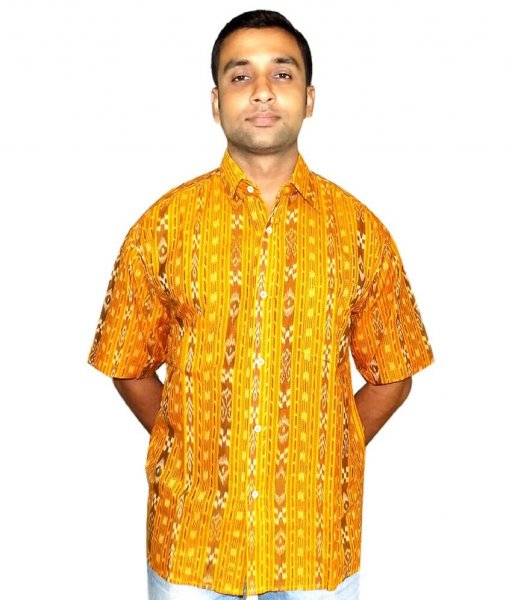 Yellow Sambalpuri Shirt