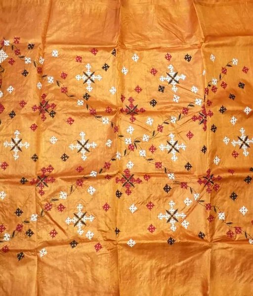Yellow Tussar Silk Suit Piece